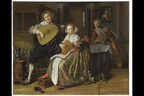 A-Young-Man-playing-a-Theorbo-and-a-Young-Woman-playing-a-Cittern-Jan-Miense-Molenaer